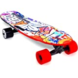Electric Skateboard Longboard with Remote Control | 400W | UL2272 Certified/Motorized Powered Board C4-11.2 MPH High-Speed 7 Layers Maple Electric Longboard Best Gift for Adults