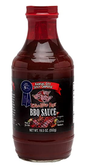 Salsa BBQ Three Little Pigs BBQ Spicy Chipotle (Chipotle Picante) - 552g (19.5