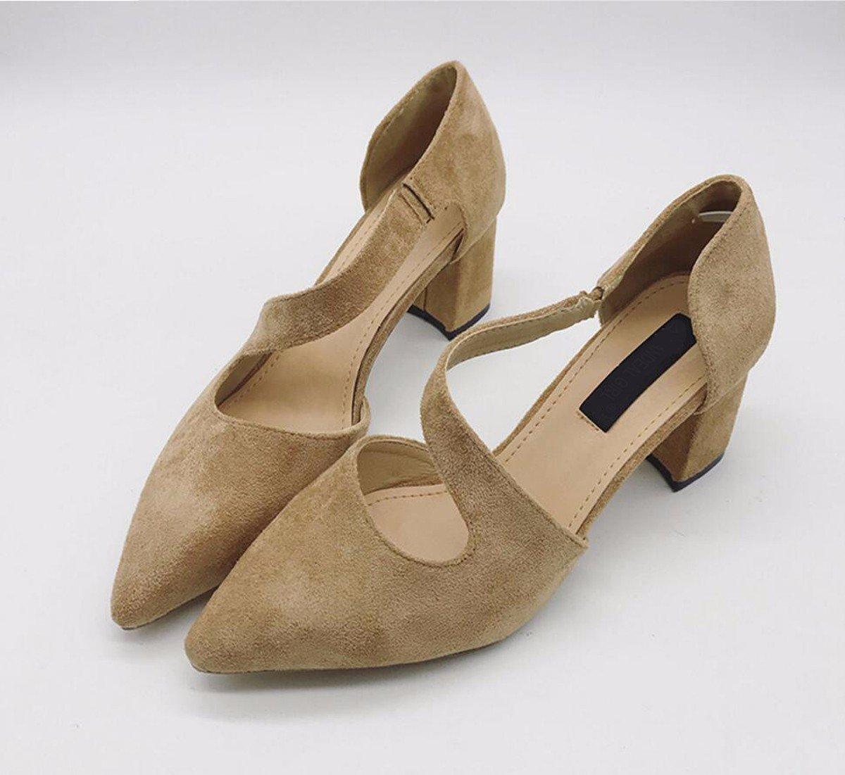 GTVERNH Damenschuhe Sommerschuhe Herbst 6 cm High Heels Einzelne Dünne Schuhe Dünne Einzelne Sohle Lässig Damenschuhe Geeignet Für Große Füße Große Fett Fett Dicke Füße Hoher Innenseite. 6fd55a