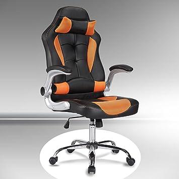 Leder Schreibtischstuhl amazon de uenjoy gaming stuhl racing stuhl leder bürostuhl