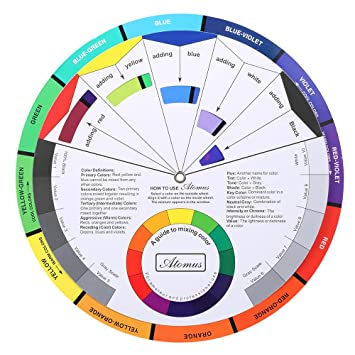 Amazon Com Anself Tattoo Pigment Color Wheel Chart Color Mix Guide