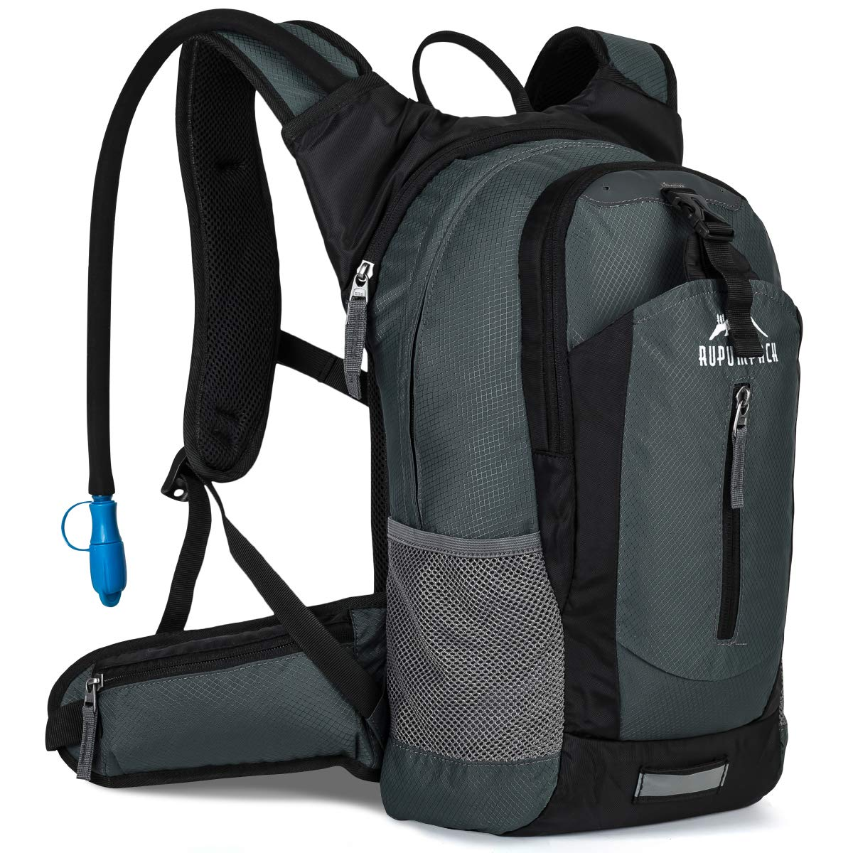 RUPUMPACK Insulated Hydration Backpack Pack with 2.5L BPA Free Bladder - Keeps Liquid Cool up to 4 Hours, Lightweight Daypack Water Backpack for Hiking Running Cycling Camping, 18L by RUPUMPACK