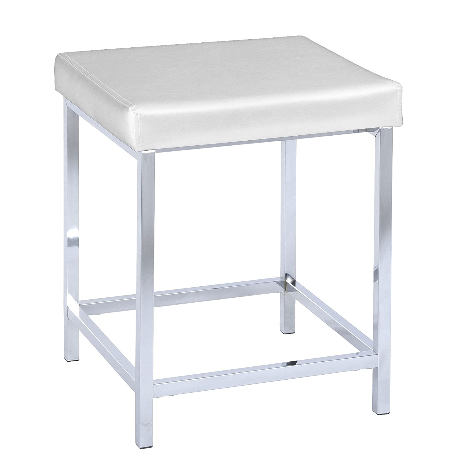 Badhocker wenko  Amazon.de: WENKO 19943100 Hocker Deluxe Square White - Badhocker ...