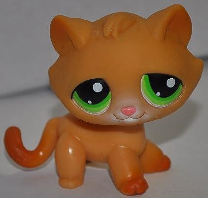 Amazoncom Kitten 110 Orange Green Eyes Littlest Pet Shop