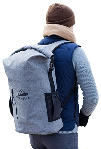 Portfella Backpack Heavy Duty 30L Dry Bag - Outdoor Hiking Travel Backpack  Waterproof Rolltop - Camping 9285a76718
