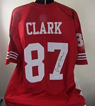 dwight clark autographed signed san francisco 49ers jersey at rh amazon com