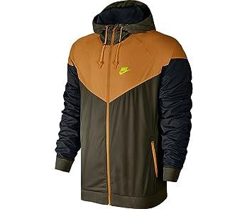 41dfaab0ce12 Nike M NSW Windrunner Veste Coupe-Vent pour Homme XL Multicolore - Vert Noir