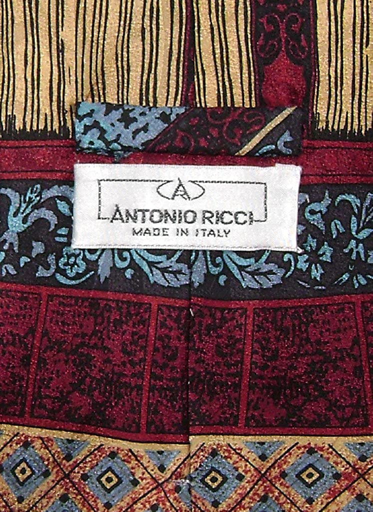 Antonio Ricci SILK NeckTie Made in ITALY Geometric Design Mens Neck Tie #3106-4