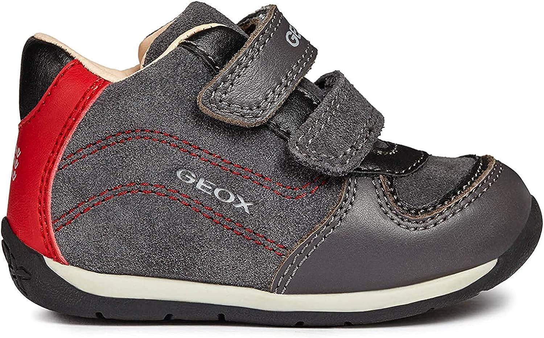 Geox Boys 25 Leather Sneaker Shoe Dual Straps,