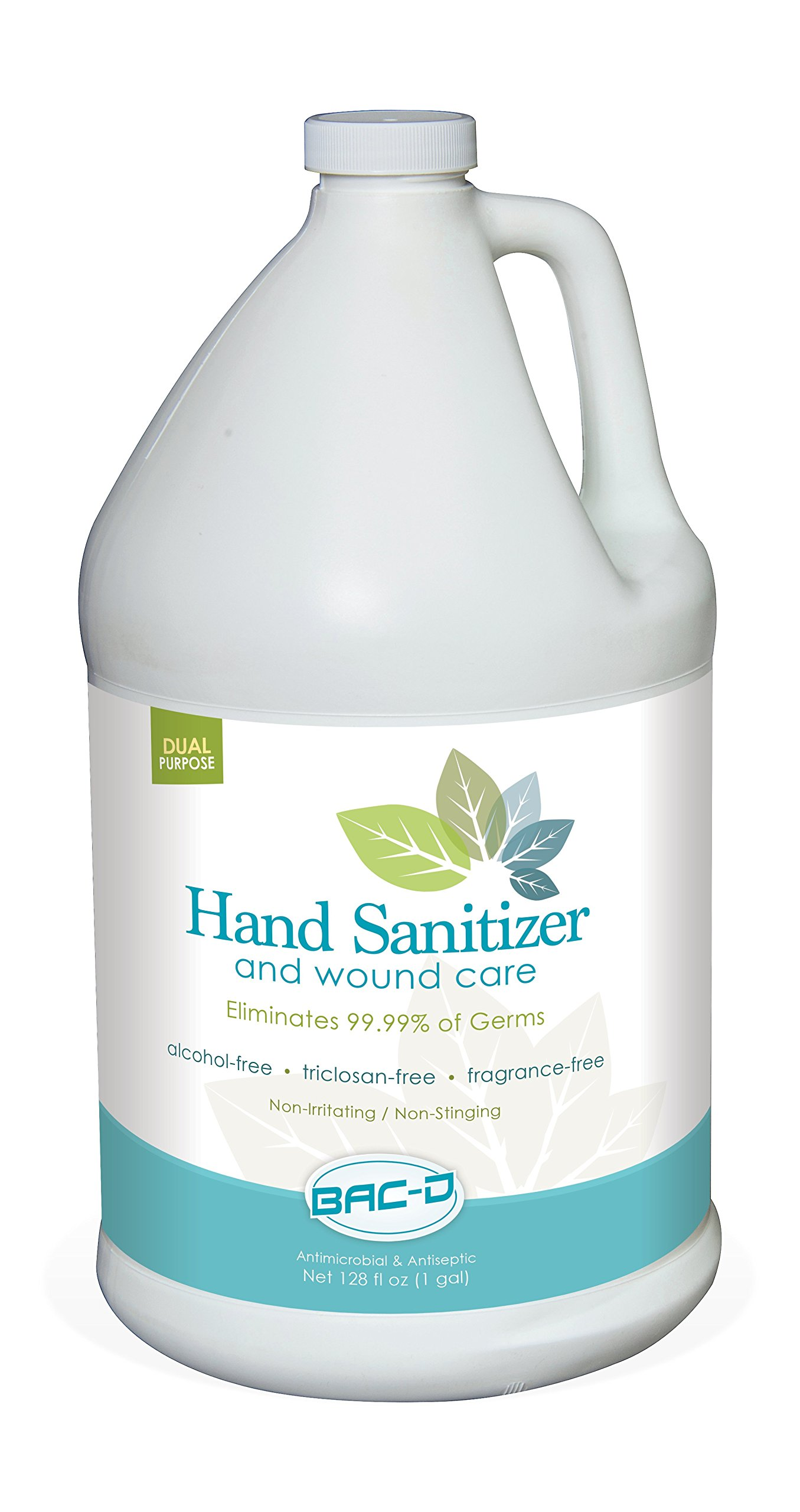 BAC-D 630 Alcohol Free Hand Sanitizer and Wound Care, 1 Gallon Refill, 128 oz. (Pack of 1) by BAC-D