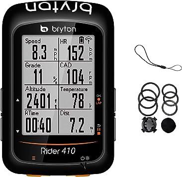 Bryton Rider 410 - Ordenador GPS para Bicicleta, 410E - Base Model, 2.3