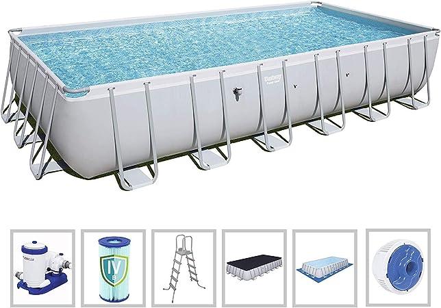 Amazon.com: Bestway 56477E piscina de acero de potencia ...