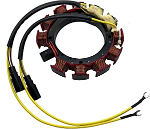 JETUNIT Outboard Stator For Johnson Evinrude OMC Sea Drive 35AMP 6 & 8 Cylinder 18-5868 583847 583117 583670 173-3117