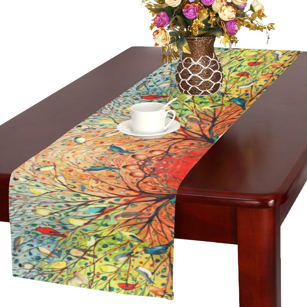 Tree Of Life Cotton Linen Placemat Table Runner 16'' x 72''