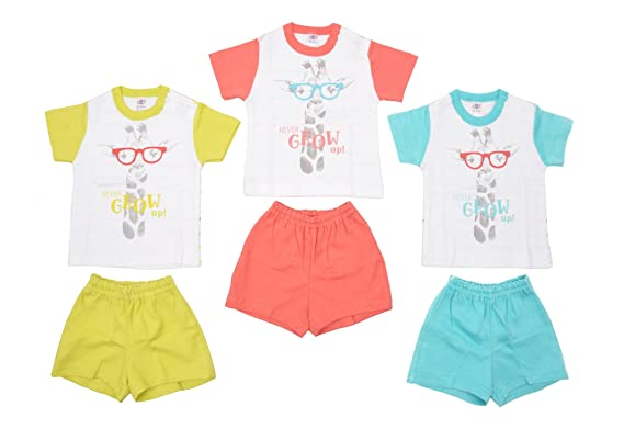 8b5c0956cdc70 Zero Baby Clothing Sets for Baby Boys/Baby Girls/Infants, 3 T-Shirts ...