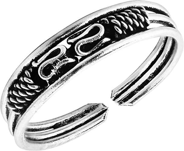 Boho Ring Sterling Silver Bali Rope Braid Ring Stackable Ring Silver Rings