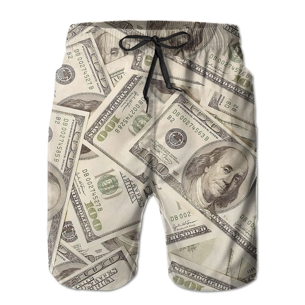 Money Beach Shorts Quick Dry Surfing Trunks Surf Board Pants With Pockets For Men Tydo