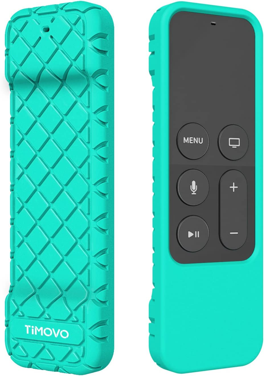 TiMOVO Protective Case Compatible for Apple TV 4K/4th Gen Remote, Anti Slip & Shock Proof Skin, Lightweight Soft Silicone Cover Fit Apple TV 4K Siri Remote Controller - Green