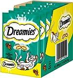Dreamies Katzensnacks Klassiker / Katzenleckerli mit wertvollen Vitaminen und Mineralstoffen / Pute / 6 x 60g