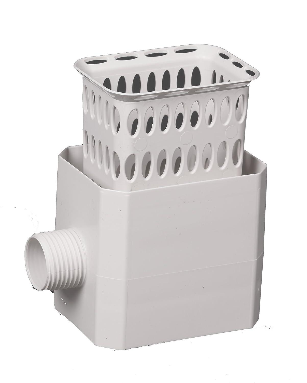 Flex-Drain 37043 Catch-A-Raindrop Rainwater Colander Kit, 3 x 4-Inch, White