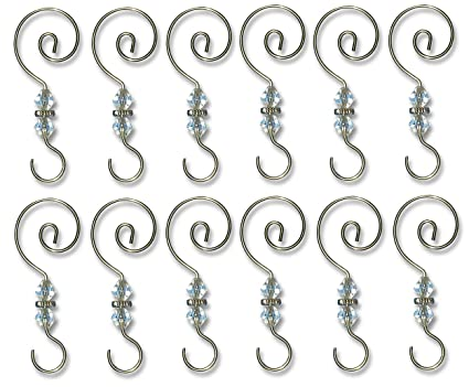 Amazon Com Banberry Designs Christmas Ornament Hooks 12 Pack