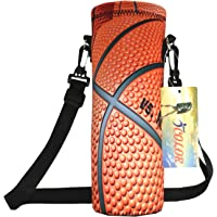 ICOLOR Water Bottle Bag Carrier - 750ML/24oz (1000ML/34oz) Drink Milk Water Bottle Storage Container for Kids Adults - Neoprene Sling Insulated Sports Water Bottle Bag Case Cover Pouch - Unisex Outdoor Sports Water Bottle Holder with Adjustable Shoulder Strap