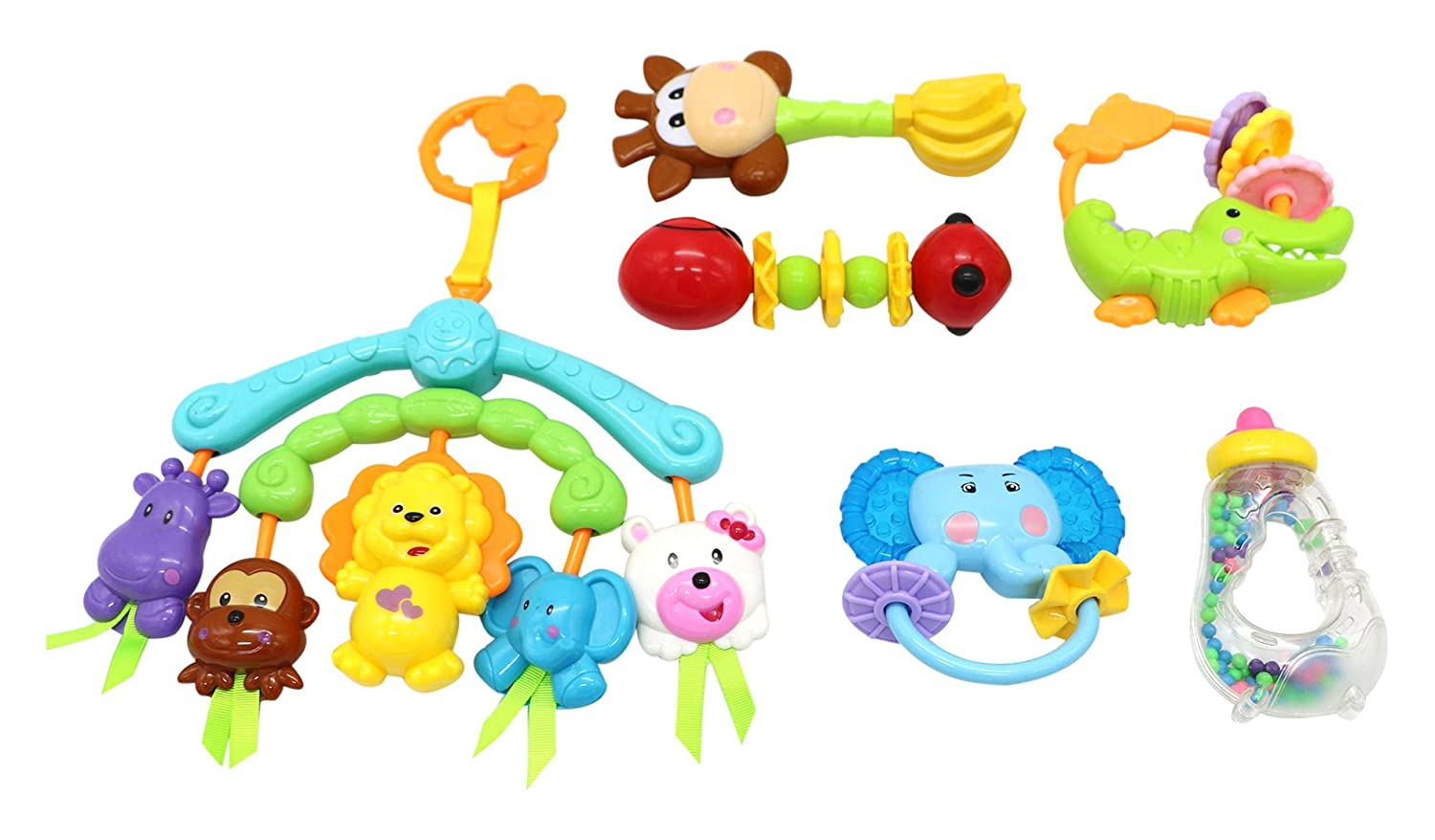 Little Treasures A Wonderful Hanging Rattleおもちゃ動物Play Thatセットにより、Infants 6ヶ月、旧to have fun while they rest   B01DWEGLNA