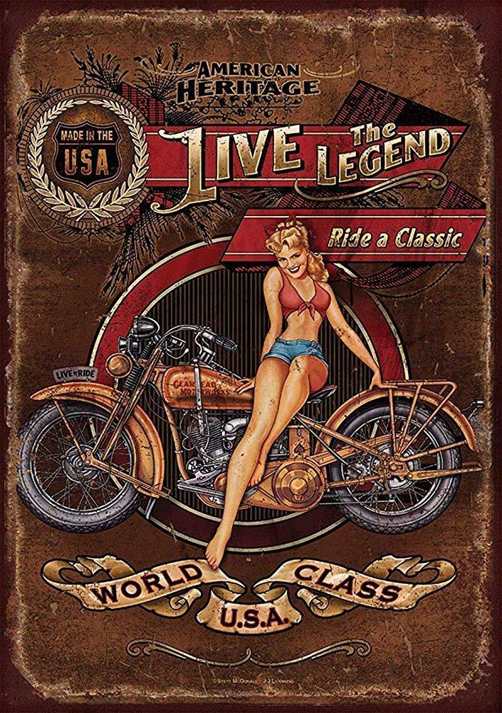 WallAdorn Harley Davidson Heritage Hierro Cartel Pintura ...