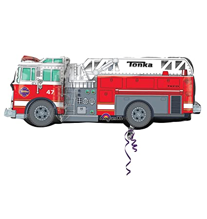 Tonka Fire Truck Supershape 35 Inch X 13 Mylar Balloon Birthday Party Supplies