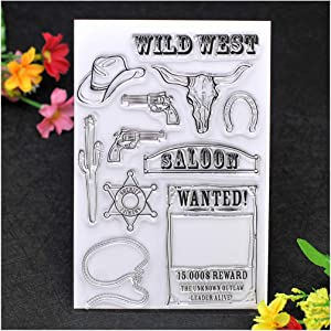 Kwan Crafts Wild West Clear Stamps for Card Making Decoration and DIY Scrapbooking
