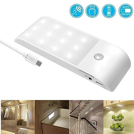 Luz nocturna LED,luz gabinetes con sensor de movimiento,luces de gabinete LED,