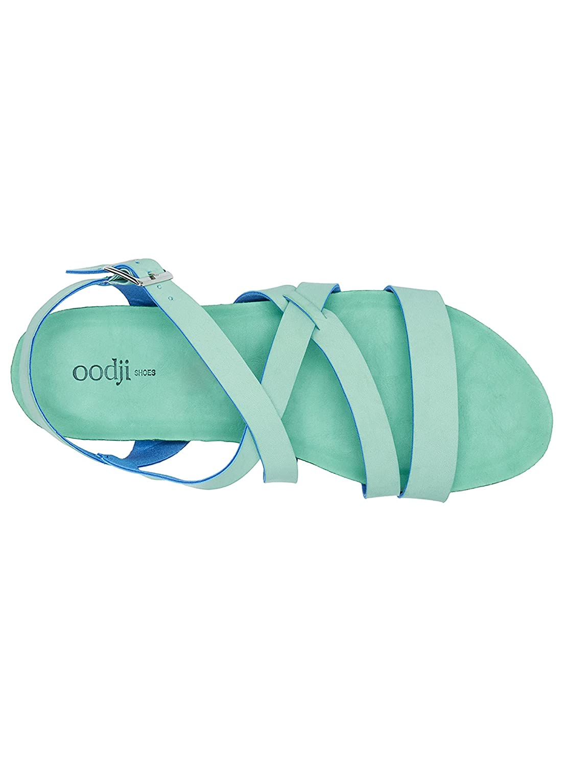 oodji Ultra Donna Sandali Basic in  Ecopelle  in Verde (6500n) 57dcd0