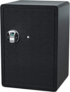Jolitac Biometric Cabinet Safes for Home, Fingerprint Security Safe Box Fireproof Solid Carbon Steel Locking Safe Case for Gun, Money, Jewelry (2.58 Cubic Feet)