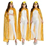 Ladies Cloaks Full Length Colored Sequins Goddess