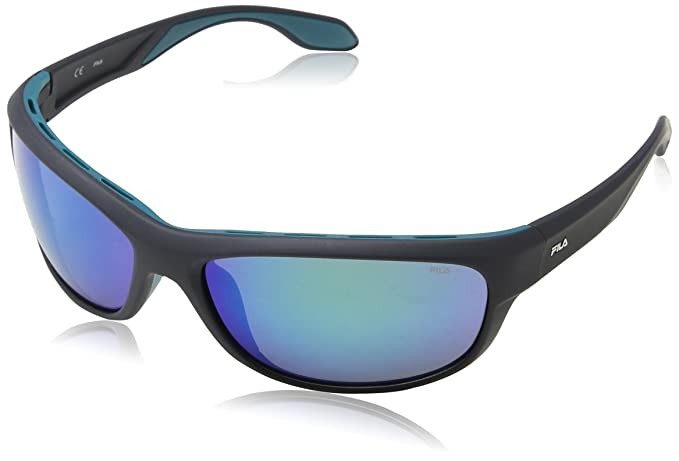 Fila Hombre N/A Gafas de sol, Gris (Shiny Dark Grey), 65 ...