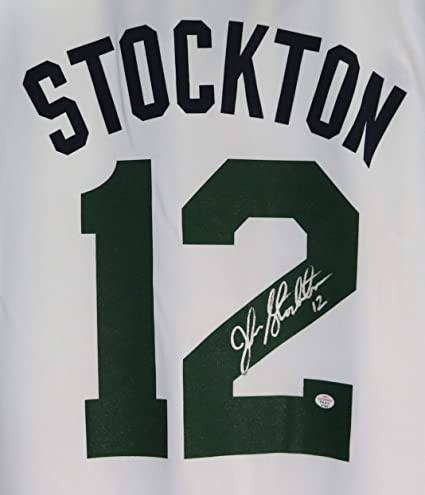 466630f2013 John Stockton Utah Jazz Signed Autographed White  12 Jersey PAAS COA at  Amazon s Sports Collectibles Store
