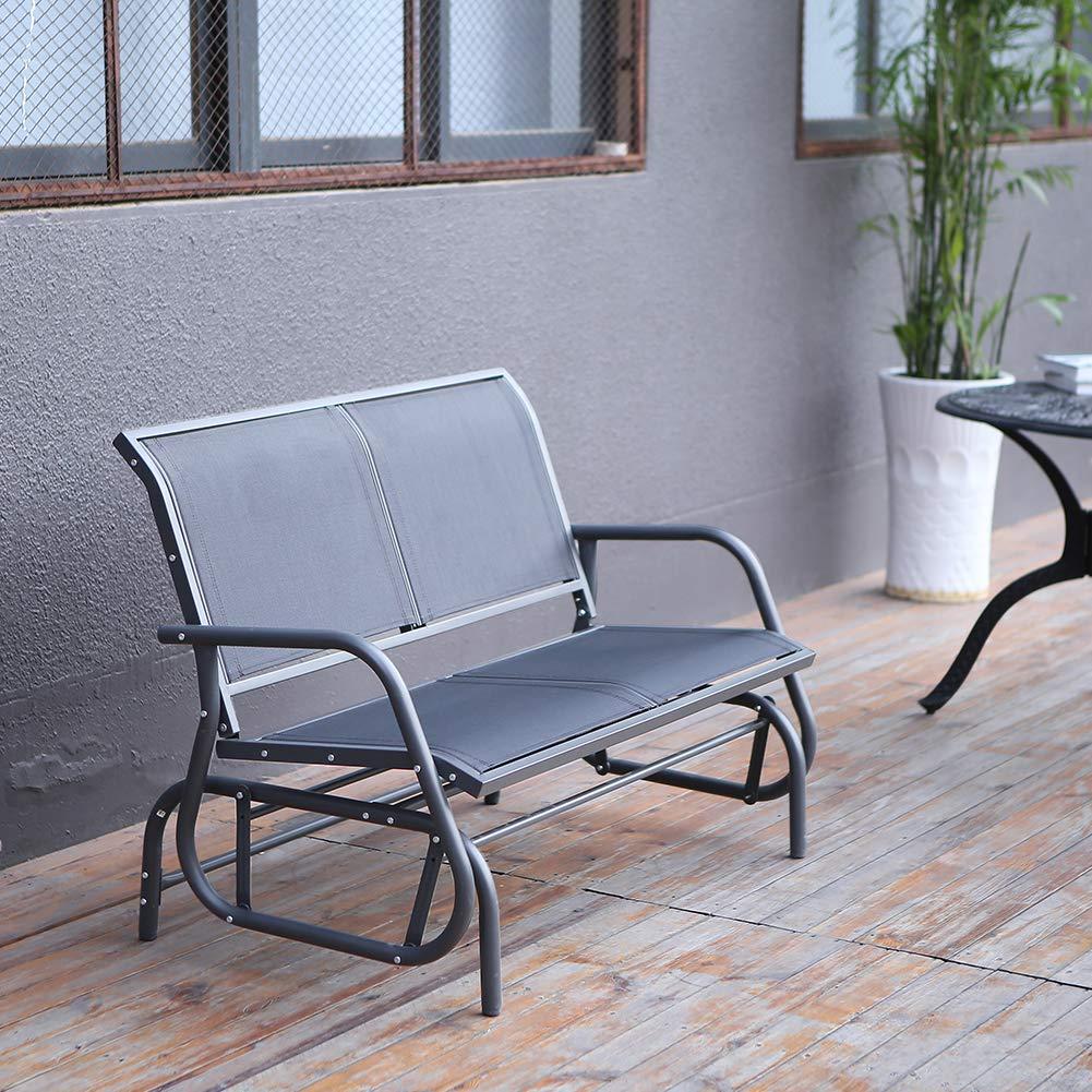 Amazon.com: SUPERJARE - Silla de jardín para 2 personas ...