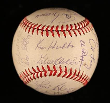 7df179b6827 Image Unavailable. Image not available for. Color  1962 Chicago Cubs Team  Signed Spalding Baseball Ken Hubbs   Ernie Banks COA - JSA Certified