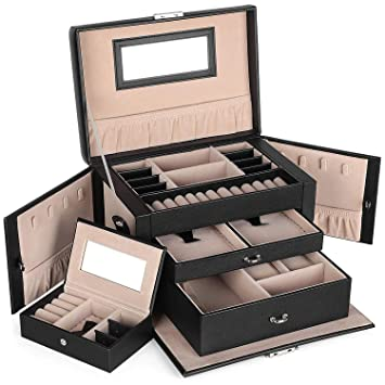 498b8da9a918 SONGMICS Caja Joyero con Espejo y Cajones