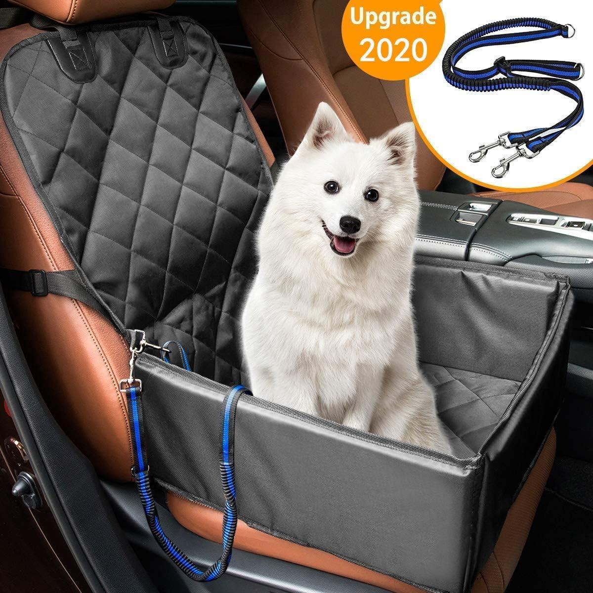 MATCC Protector de Asiento de Coche para Mascota Funda de Coche para Perros de Transporte 3 en 1 con Cadena Ajustable Impermeable Resistente al Desgaste Protección para Mascotas de Coche para Viajar