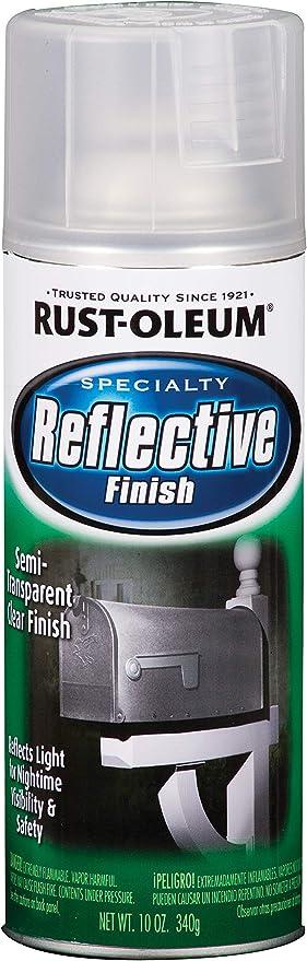 Rust Oleum 214944 Specialty Reflective Spray 10 Oz Clear