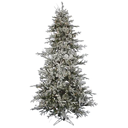 vickerman pre lit frosted whistler fir artificial christmas tree with clear dura lights 75