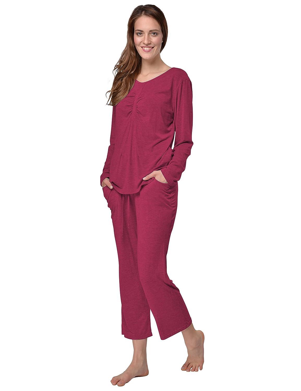 f63594e573 80%OFF Raikou Damen Jersey Hausanzug/Schlafanzug Freizeitanzug Loungewear  Langarm