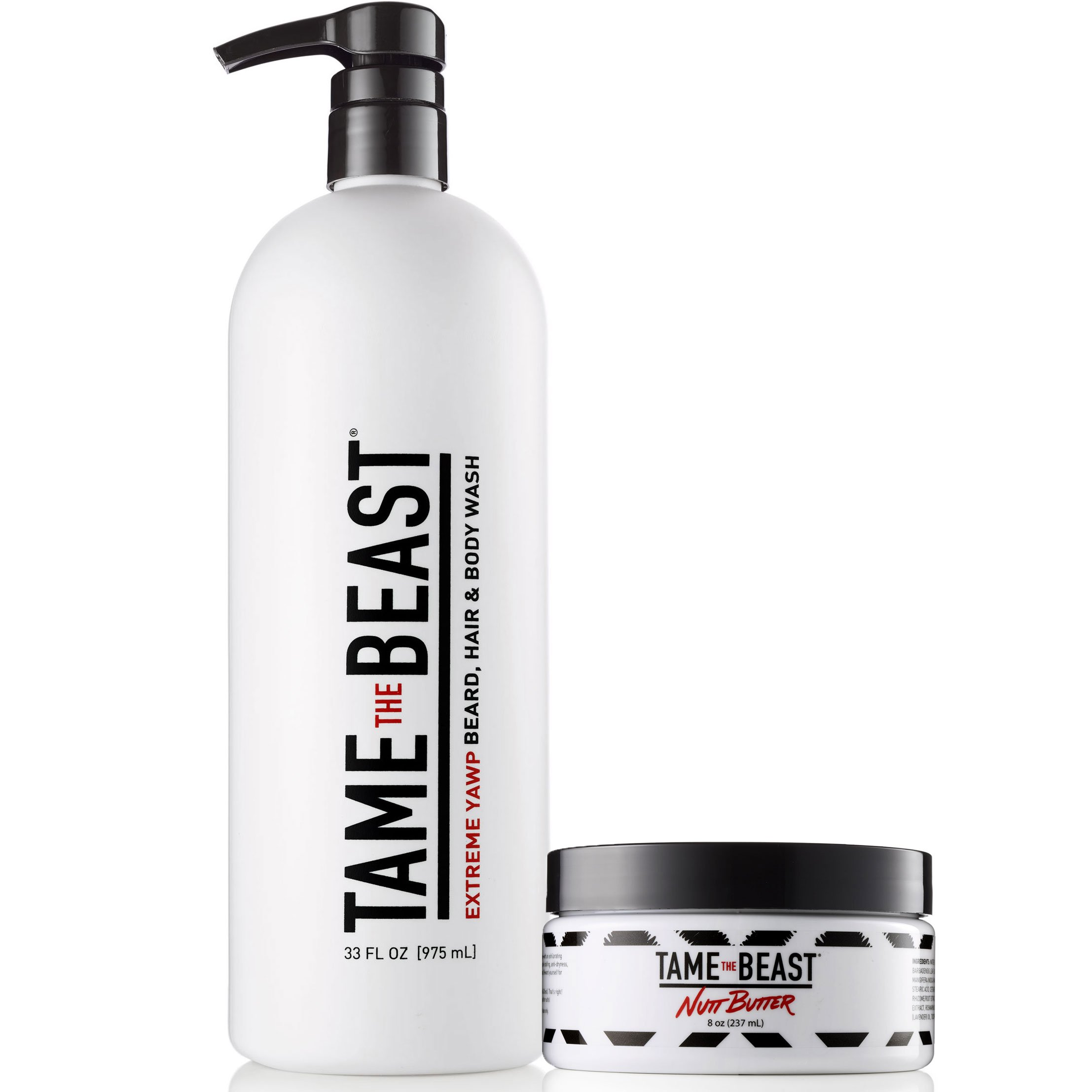 BBC Mens Grooming Set - Body Wash & Lotion for Balls Back & Chest - Extreme Yawp All-in-One Wash & Nutt Butter Skin Tingle Cream - Best Gift Set for Birthdays Father's Day Holidays by TAME the BEAST