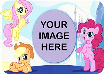 8 Round My Little Pony Photo Frame Birthday Edible Image Cake