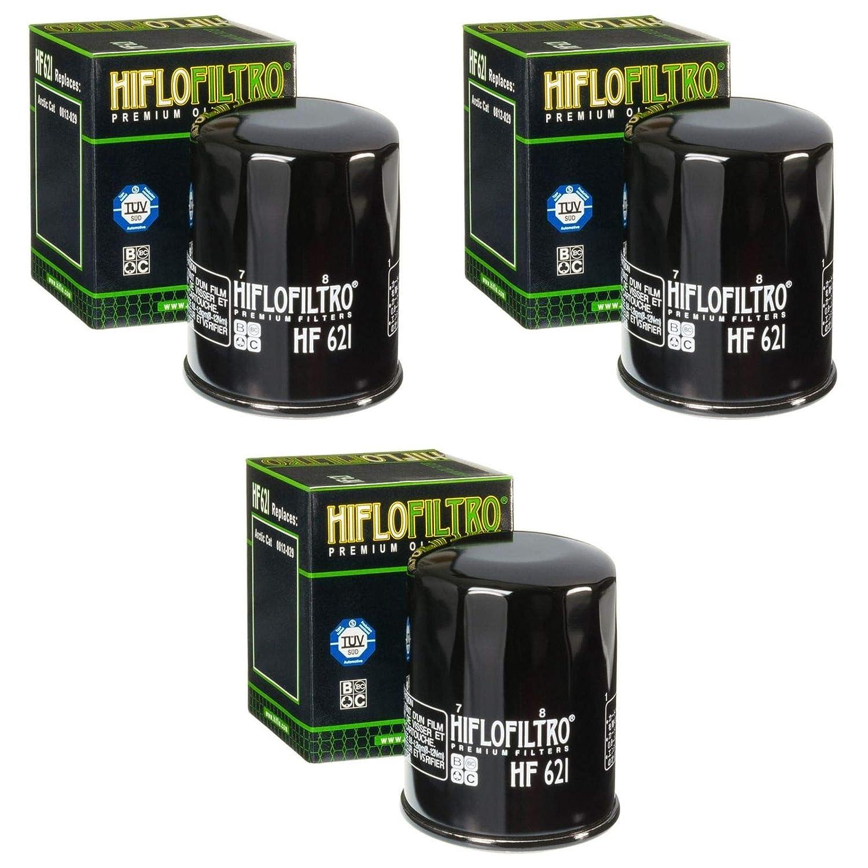 3x /Ölfilter Arctic Cat Cat 550 i TRV EFT H1 LC T3 2011 Hiflo HF621
