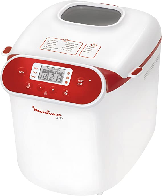 Moulinex OW310130 - Panificadora programable, 700 W, 1 kg, blanco ...