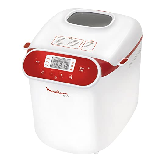 Moulinex OW310130 - Panificadora programable, 700 W, 1 kg, blanco ...