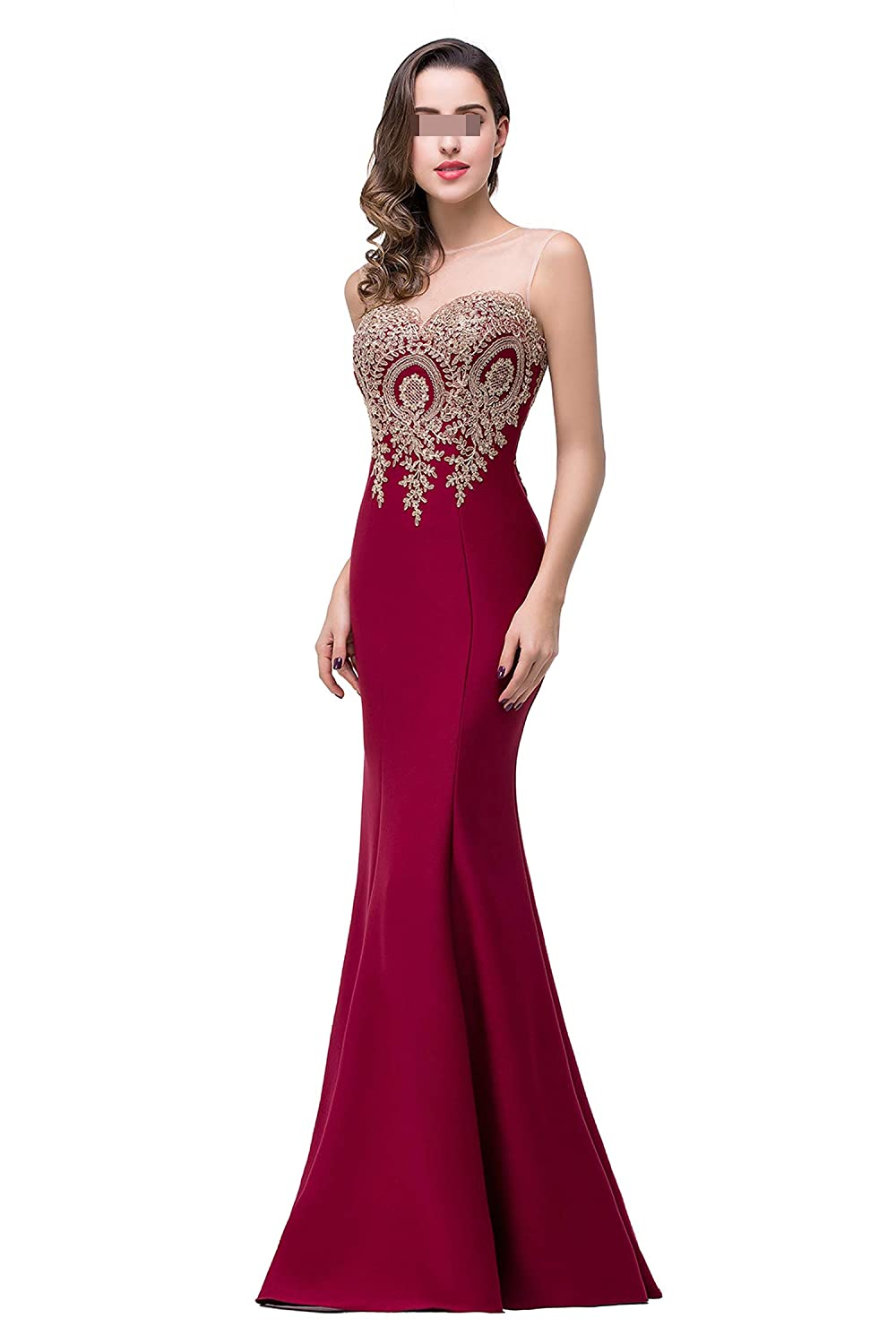 Mermaid New Royal Blue Long Evening Dress Longue Formal Party Evening Gown with Appliques,Green,10