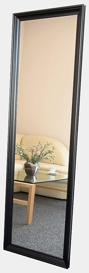 Image of BD ART Espejo de Pared con Marco de Madera 50 x 160 cm, Color Negro